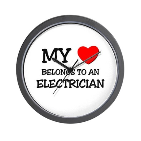My Heart Belongs To An ELECTRICIAN Wall Clock