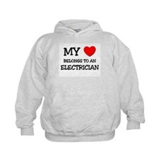 My Heart Belongs To An ELECTRICIAN Hoodie