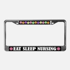 Eat Sleep Nursing License Plate Frame
