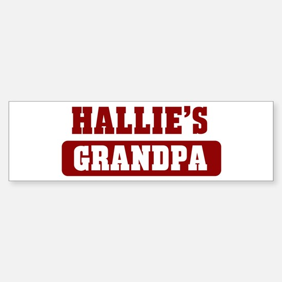 Hallies Grandpa Bumper Car Car Sticker