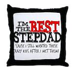 Best Stepfather Throw Pillow