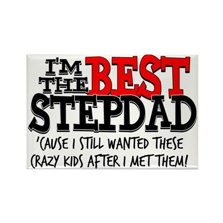 Best Stepfather Rectangle Magnet