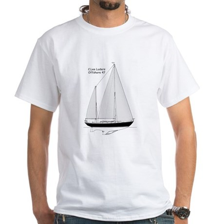Luders Offshore 47 White T-Shirt