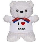 I Love soso Teddy Bear