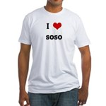 I Love soso Fitted T-Shirt