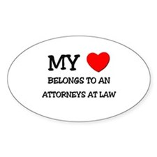 My Heart Belongs To An ATTORNEYS AT LAW Decal