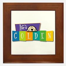 Life's Golden Retro Framed Tile