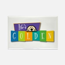 Life's Golden Retro Rectangle Magnet (10 pack)