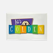 Life's Golden Retro Rectangle Magnet