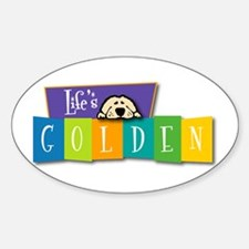 Life's Golden Retro Oval Decal