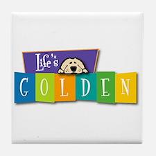 Life's Golden Retro Tile Coaster