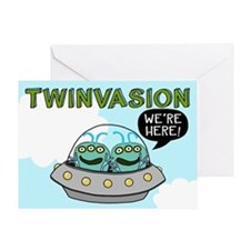 TWINVASION Blank Greeting Card