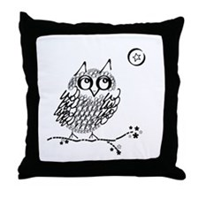 Cute Owl limb Throw Pillow