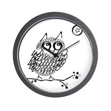Funny Owl limb Wall Clock