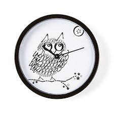 Cute Owl limb Wall Clock