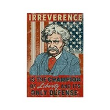 Mark Twain Irreverence Rectangle Magnet