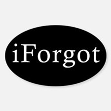 iForgot Oval Decal