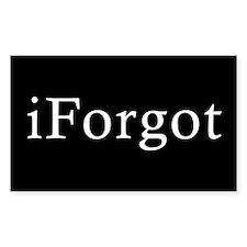 iForgot Rectangle Decal