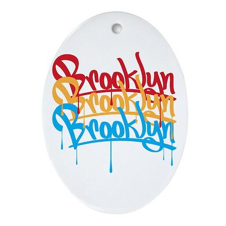 Brooklyn Colors Oval Ornament