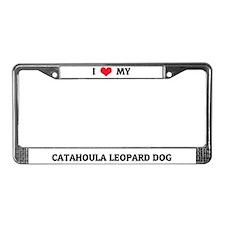 I Love My Catahoula Leopard Dog License Frame