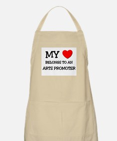 My Heart Belongs To An ARTS PROMOTER BBQ Apron