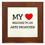 My Heart Belongs To An ARTS PROMOTER Framed Tile