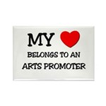My Heart Belongs To An ARTS PROMOTER Rectangle Mag