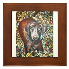 A Labrador Retriever Framed Tile