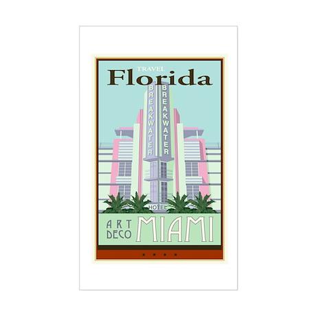 Travel Florida Rectangle Sticker