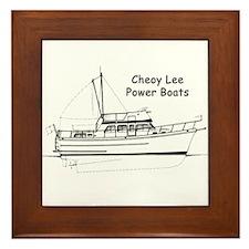 Cheoy Lee Power Boats Framed Tile