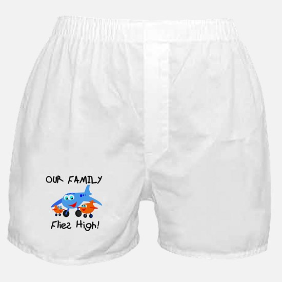 Our Family Flies High Boxer Shorts