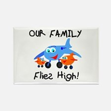 Our Family Flies High Rectangle Magnet