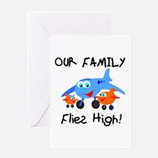 Our Family Flies High Greeting Card