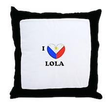 Cute Philippines heart Throw Pillow