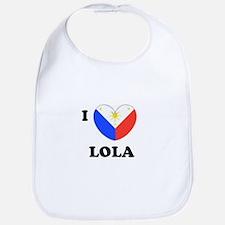 Cute I love lola Bib
