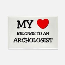 My Heart Belongs To An ARCHOLOGIST Rectangle Magne