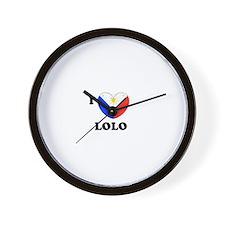Funny Philippines heart Wall Clock