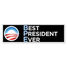 Obama = Best President Ever Bumper Sticker 10 Pack