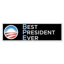 Obama = Best President Ever Bumper Car Sticker