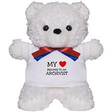My Heart Belongs To An ARCHIVIST Teddy Bear