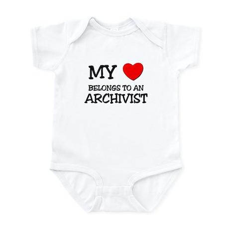 My Heart Belongs To An ARCHIVIST Infant Bodysuit