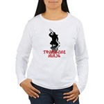 Trombone Ninja Women's Long Sleeve T-Shirt