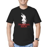 Trombone Ninja Men's Fitted T-Shirt (dark)