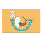 1776 Battle Flag Rectangle Sticker 10 pk)