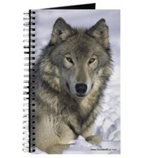 """Grey Wolf in Snow"" Journal"