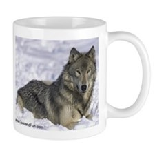 """Grey Wolf in Snow"" Mug"