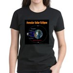 Annular Solar Eclipse - 1, Women's Dark T-Shirt
