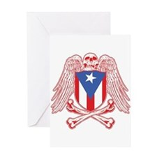 Puerto Rico Crossbones Greeting Card