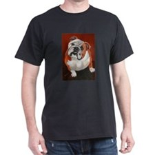 Bertha a Bulldog Black T-Shirt