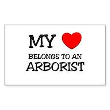 My Heart Belongs To An ARBORIST Decal